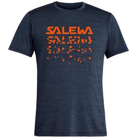 SALEWA Puez Hybrid 2 Dry T-shirt Heren, premium navy melange